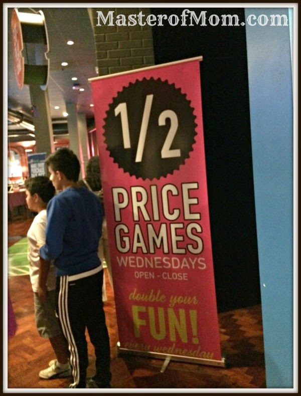 Half off games at Dave and Buster's, Wednesdays, Dolphin Mall, Miami