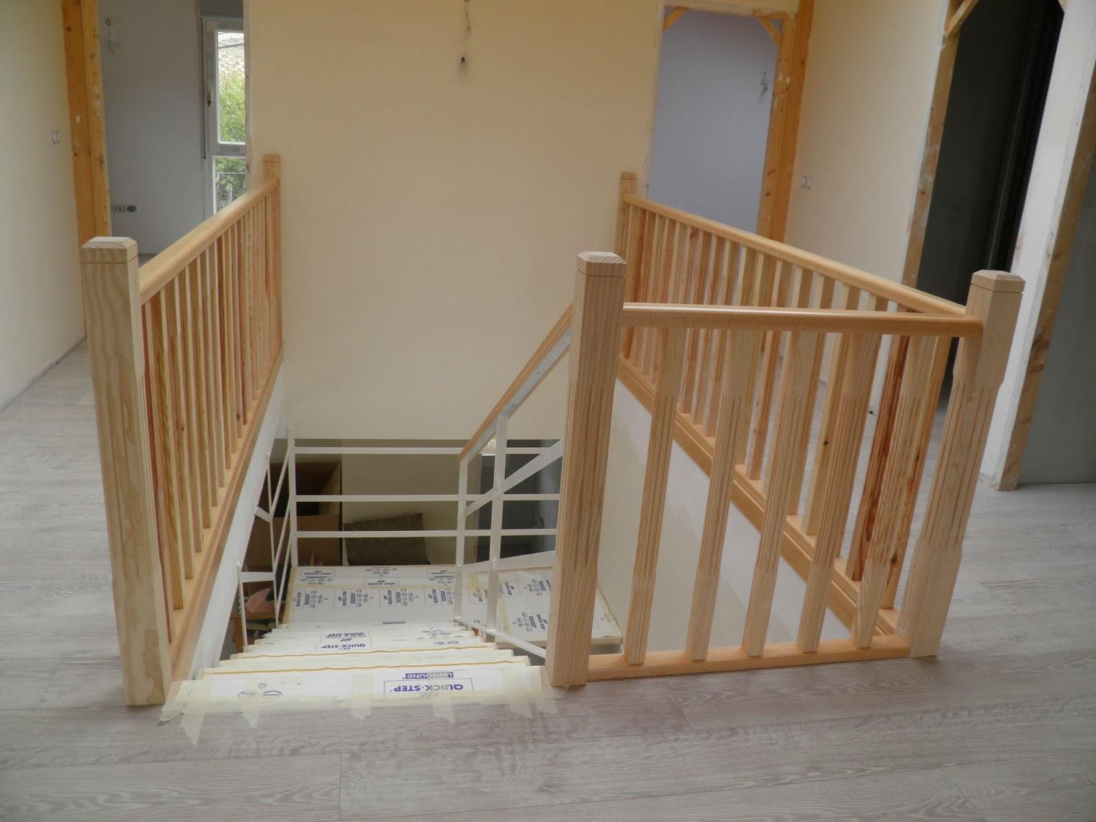 El peku la barandilla de la escalera for Como trazar una escalera de madera