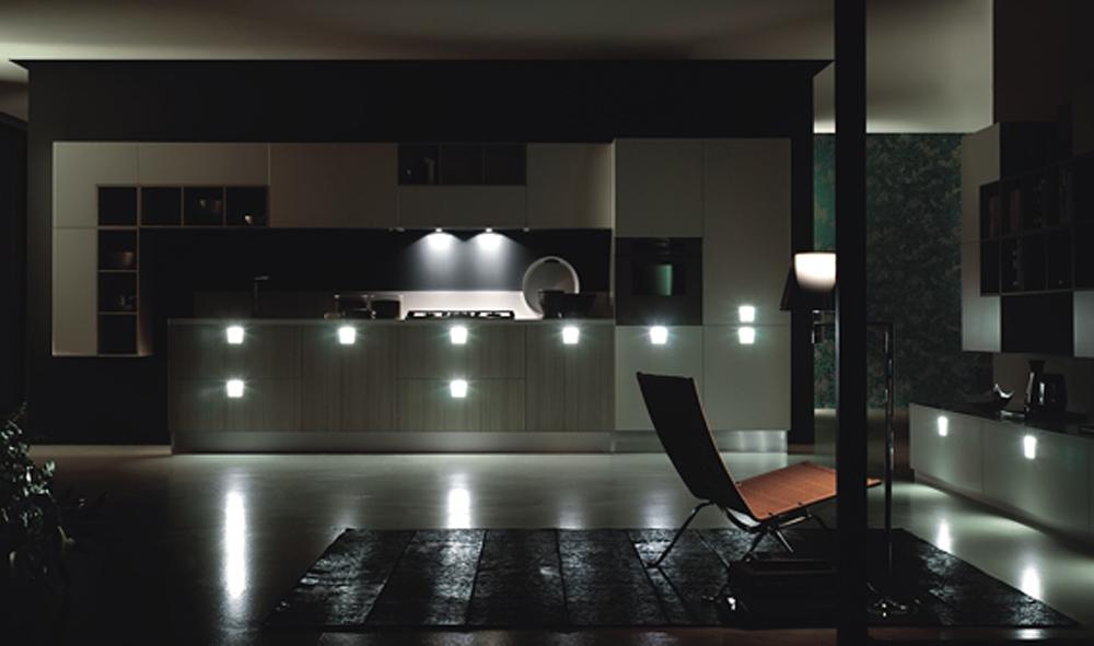 Tiradores con luces que personalizan la cocina cocinas - Luces para cocinas ...