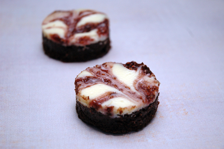 ... make ordinary brownies extrodinary with rapsberry cheesecake topping