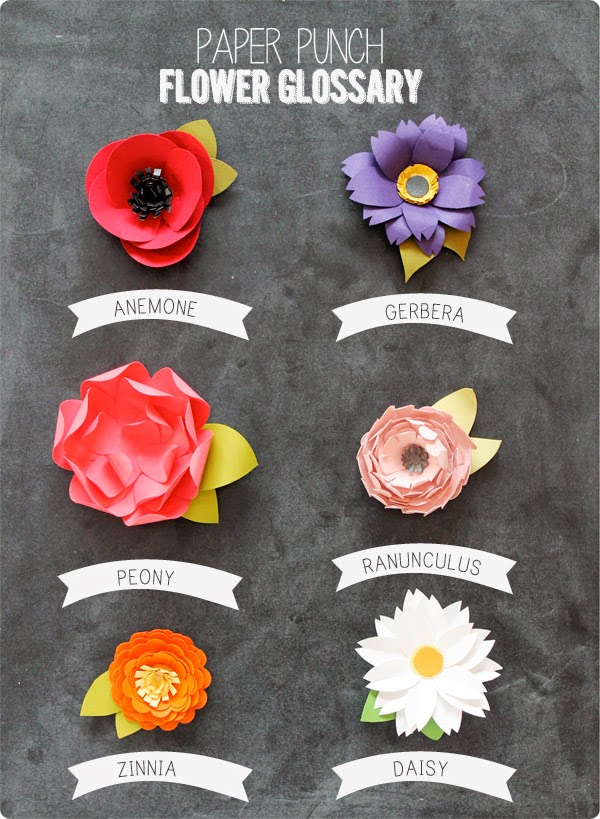 Makers + Shakers Damask Love paper punch flowers