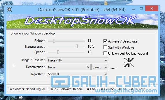Cara Membuat Efek Salju Berjatuhan di PC