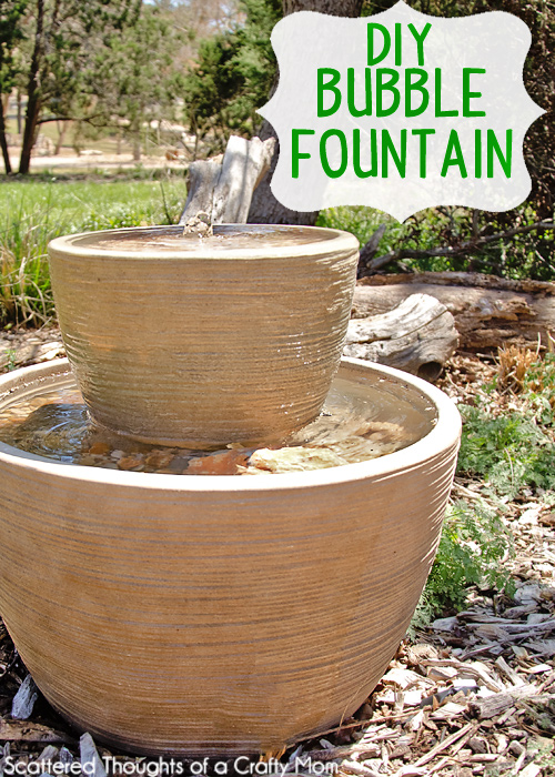 Home made garden fountain home design inside for How to make an outdoor fountain