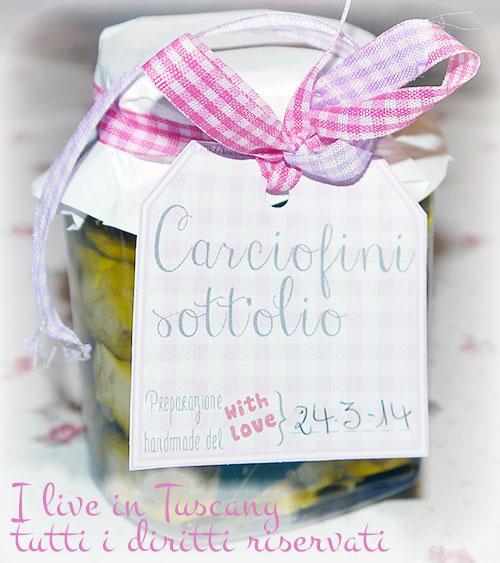 carciofini sott'olio, ricetta ed etichetta