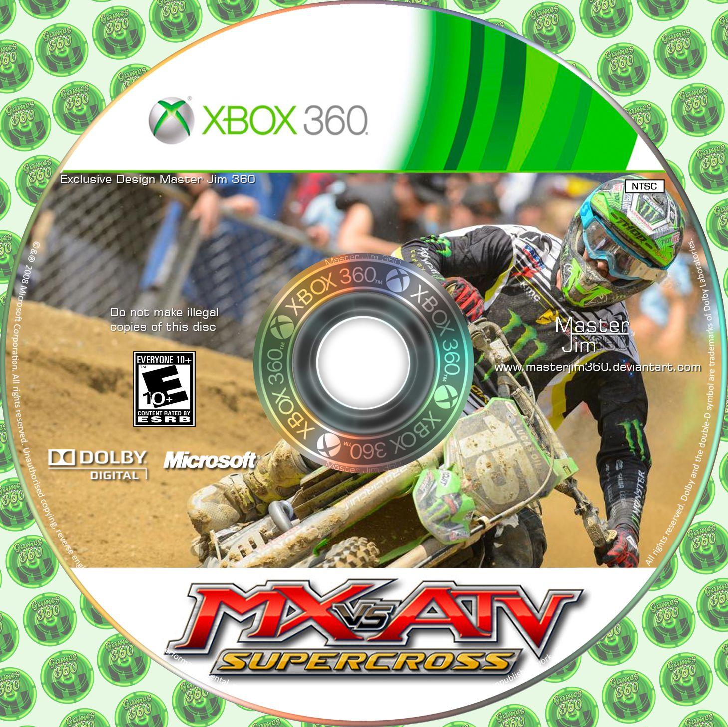 Label MX VS ATV Supercross Xbox 360