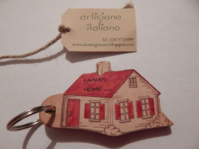 Portachiavi per case con scritte personalizzate
