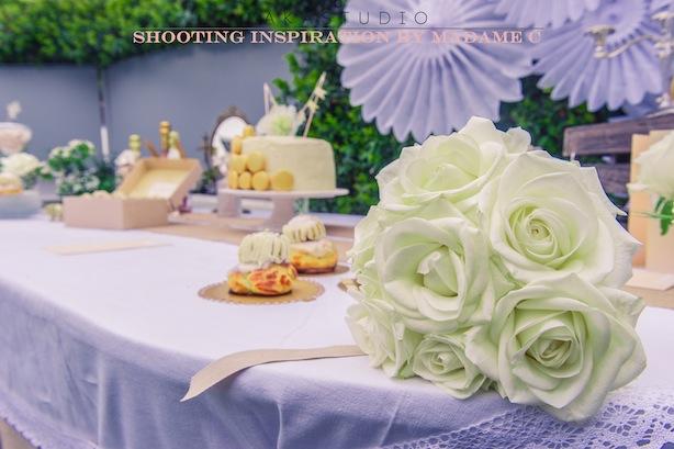 décoration florale et gourmandises