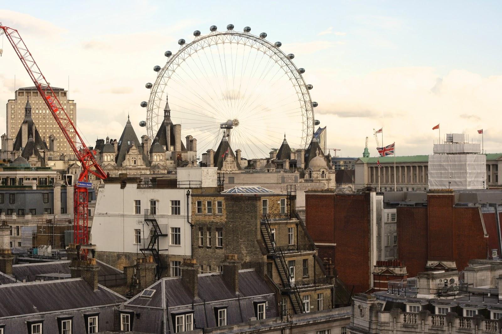 Views over Trafalgar Square London