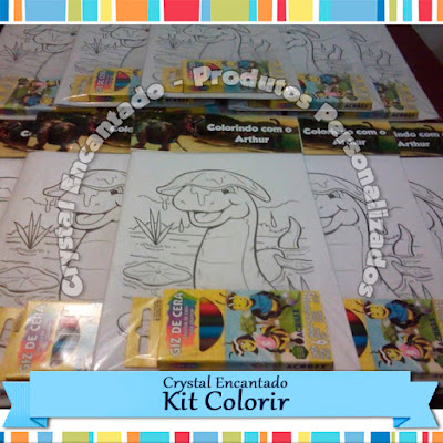 Kit Colorir Dinossauro