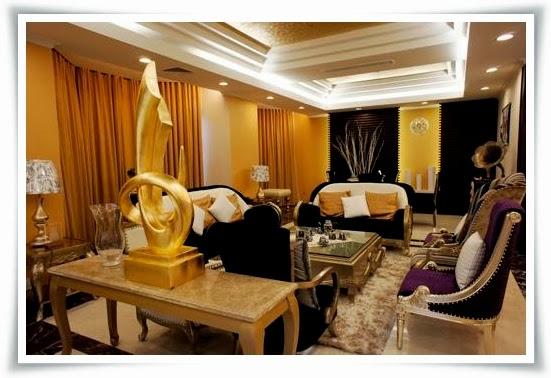 Phòng khách biệt thự Saigon Pearl - villas cao cấp