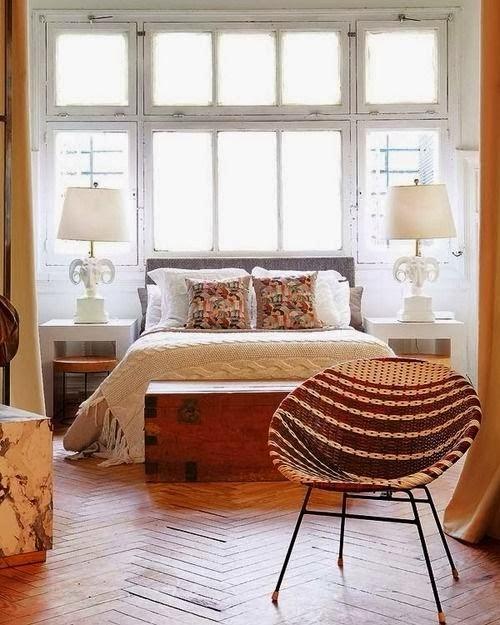 eklektik yatak odası dekorasyonu