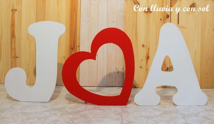 Decoracion en madera para bodas y para niños: LETRAS GIGANTES PARA ...