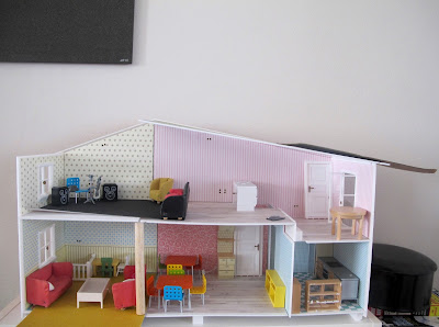 A  half-built Lundby dolls' house.