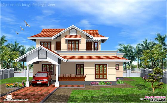 New home design kerala model 1900 home design for Kerala new model house