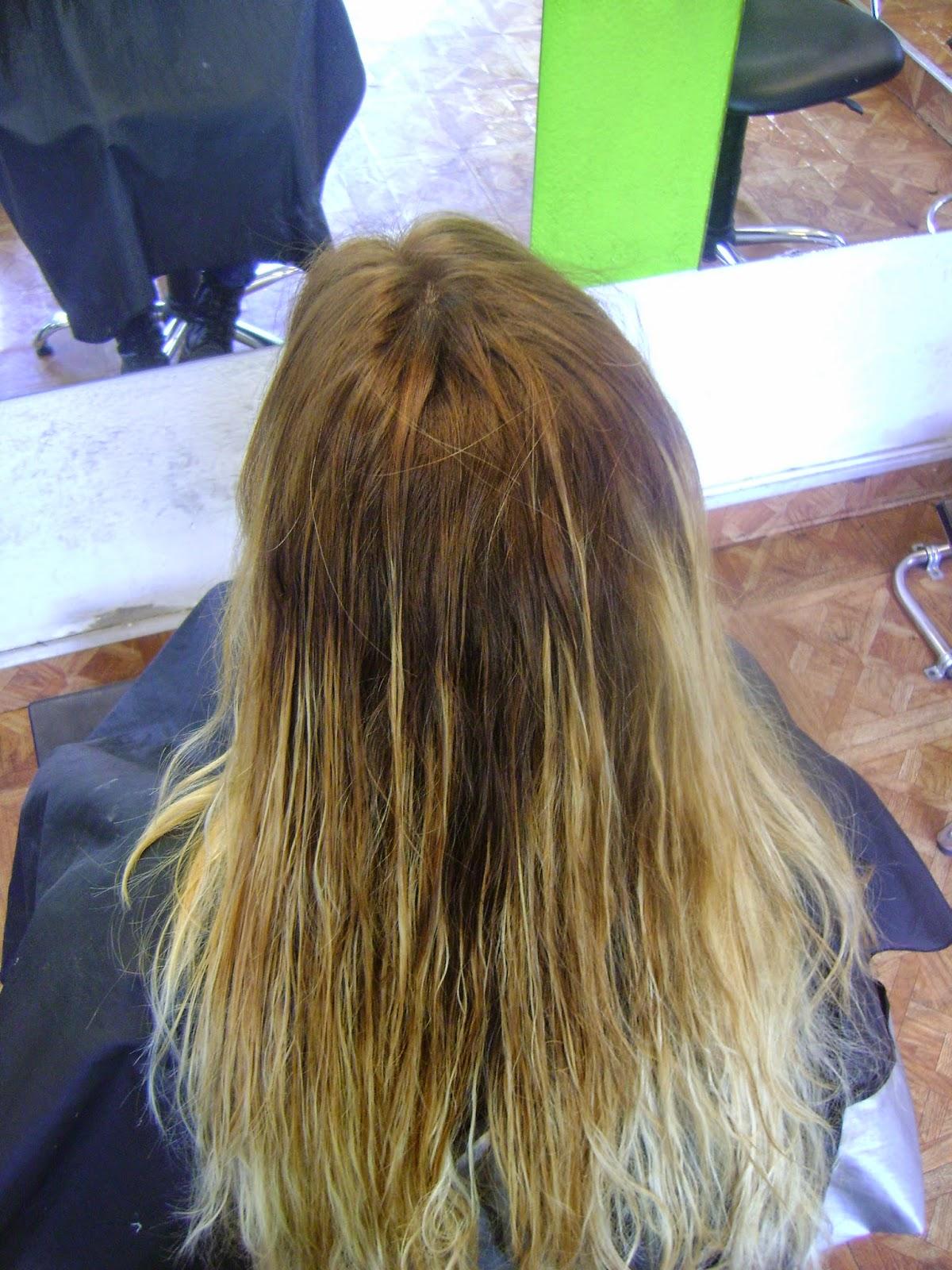 mal hecho tuvimos que recuperar el cabello con un Tratamiento intensivo ,Corrección de color al 90% ,sellado de pro keratin loreal 96% dejando asi un