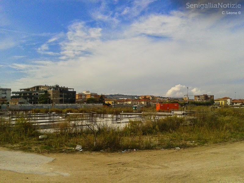 L'area ex Sacelit di Senigallia: lavori fermi da tempo