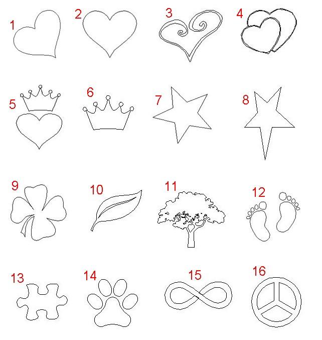 Gravur Symbole für Liebes Schloss auch Vorhängeschloss für Brücken vom schweizer Onlineshop  theBead