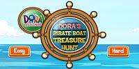 Даша пират ищет сокровища на корабле