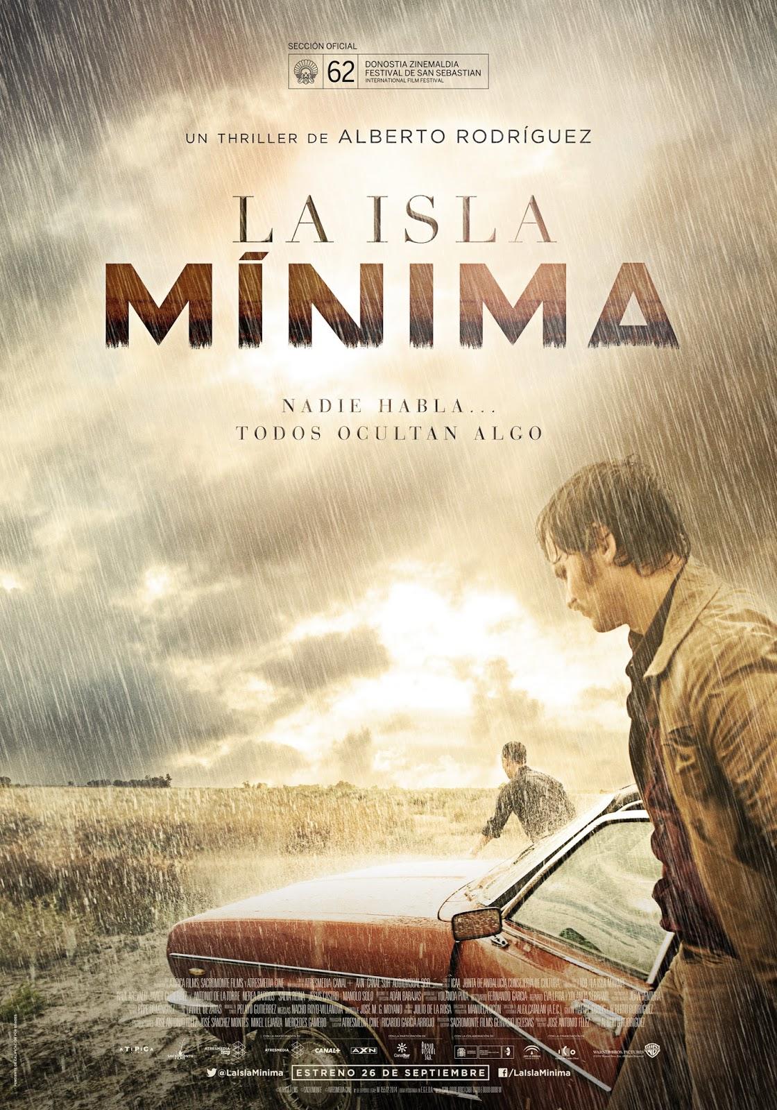 Cartel La isla mínima ganadora del Goya al mejor director de fotografía 2015