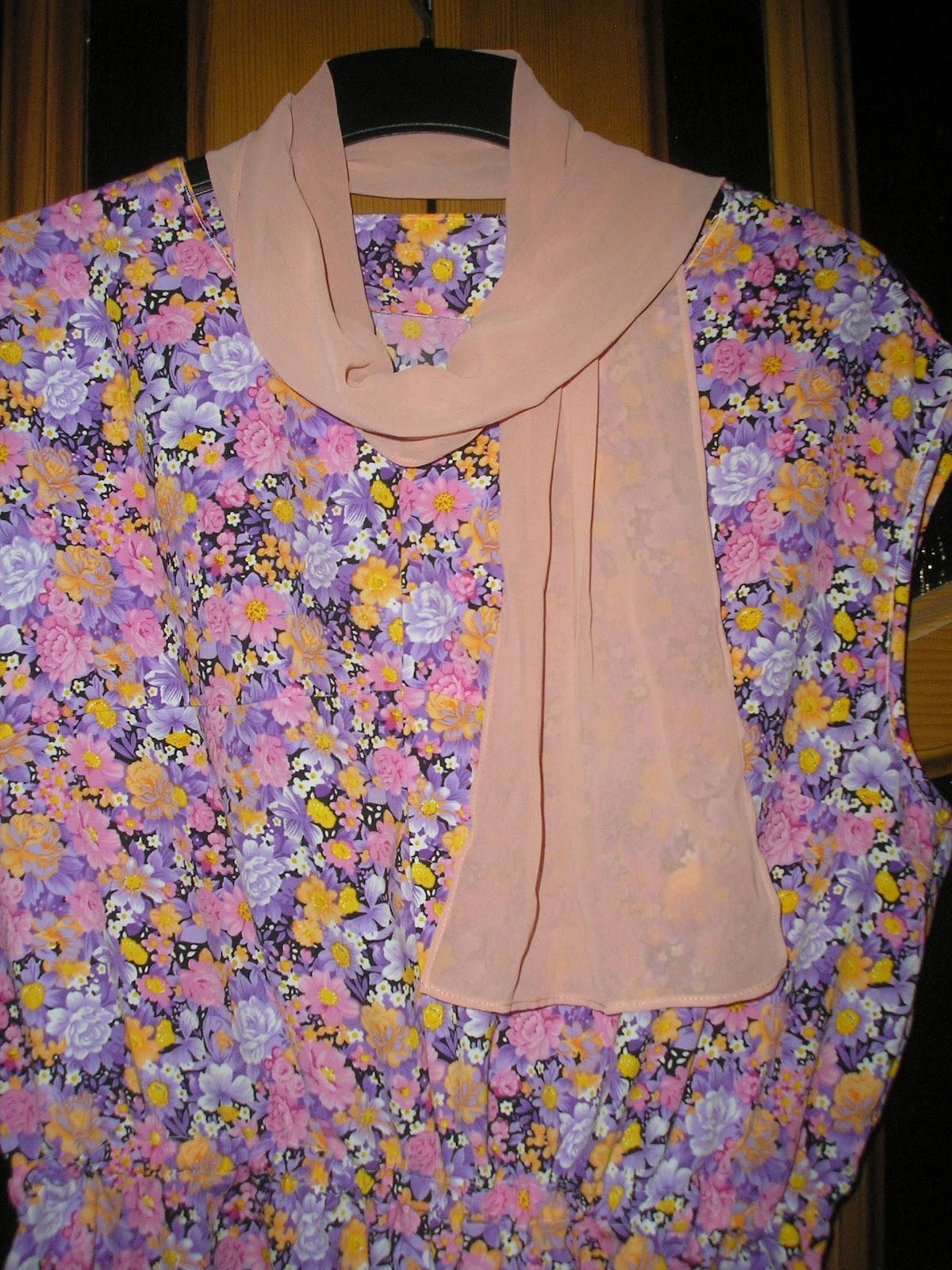 Как сшить из кусков ткани платье 38