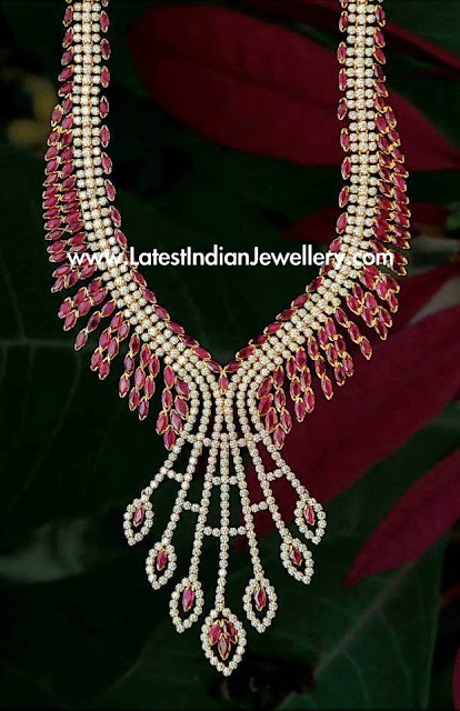 CZ Ruby Necklace gold