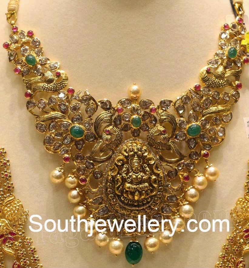 uncut patchi temple jewellery