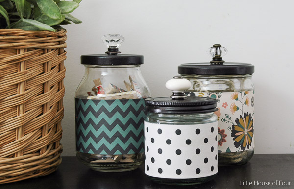 Recycled Glass Jars Turned Stylish Office Storage Little House of