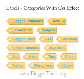 How To Add Stylish  Labels Widget In Blogger