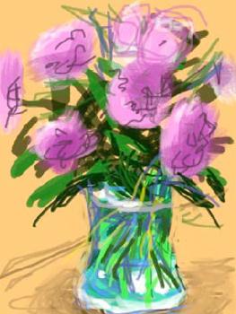 """""""Fleurs fraîches"""" D. Hockney 2010 (iPhone, iPad)"""