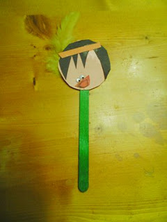 Native American Stick Puppet for Preschool