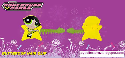 McDonalds Powerpuff Girls Happy Meal Toys 2011 - Australia and New Zealand release - Buttercup Hair Clip