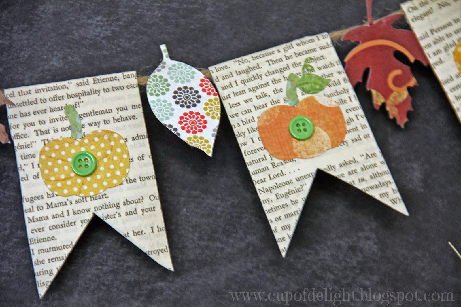 Pumpkin and Leaf Bunting