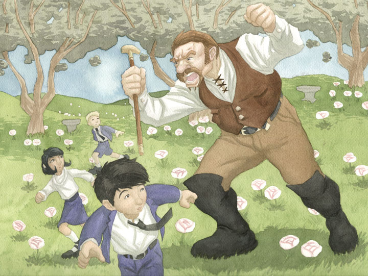 ONCE UPON A BLOG: The Selfish Giant illustrated by
