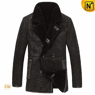 Embossed Coat for Men