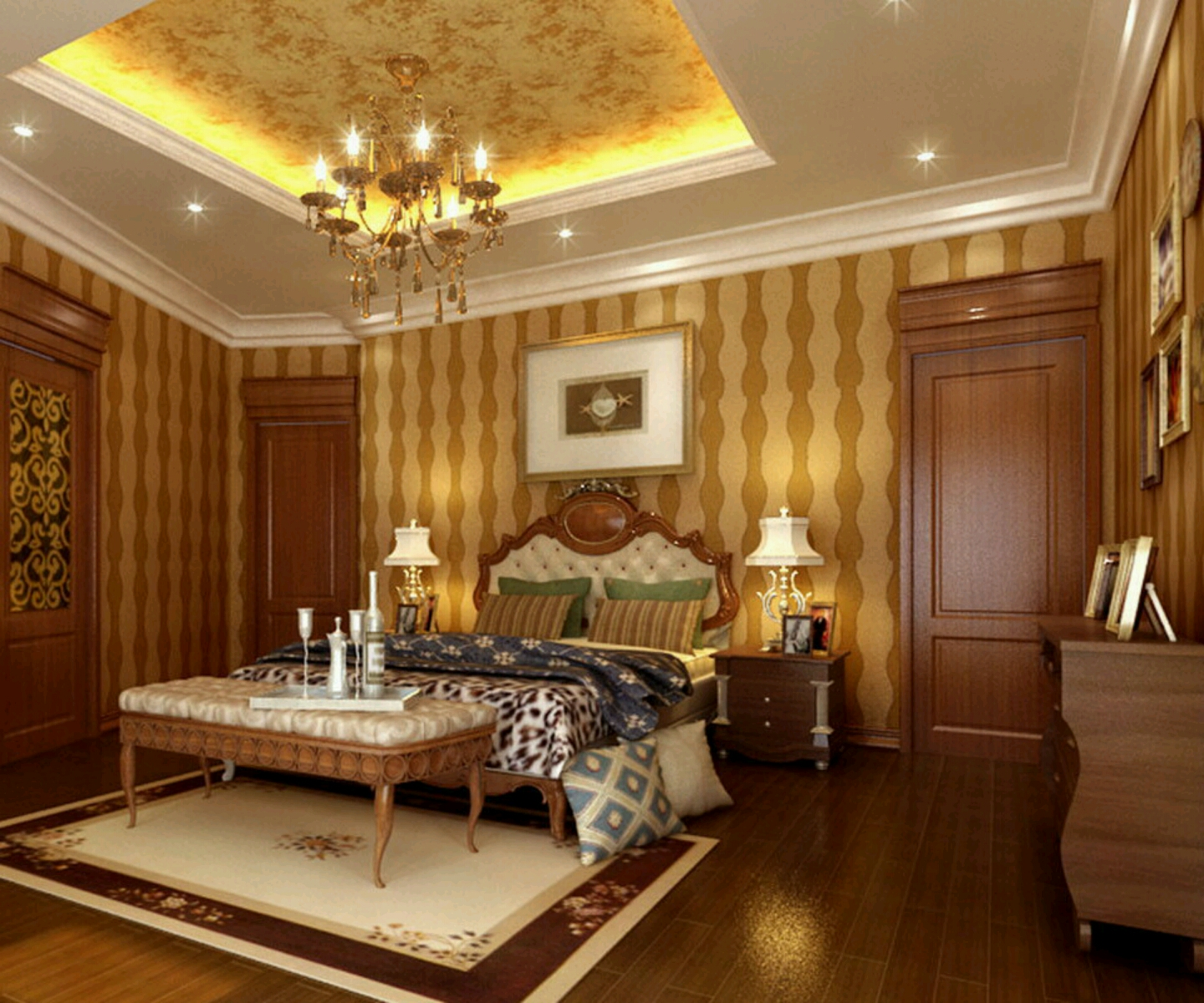 New home designs latest modern bedrooms designs ceiling for Home bedroom design photos