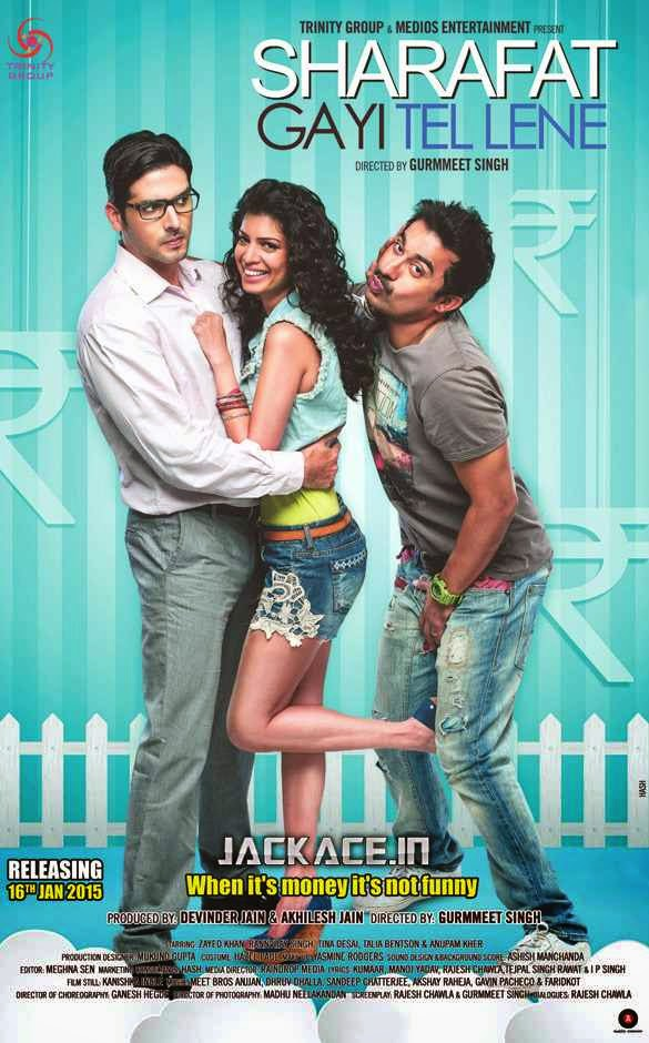 Poster Of Sharafat Gayi Tel Lene 2015 Hindi 720p   Free Download Watch Online