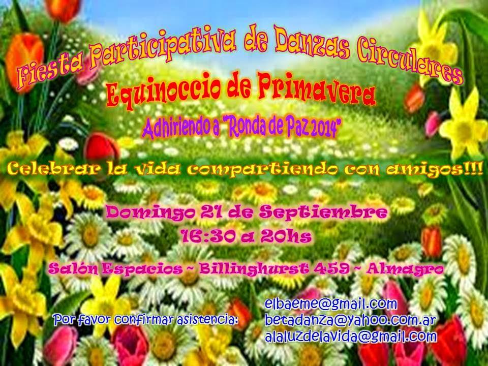FIESTA PARTICIPATIVA DE DANZAS CIRCULARES~ Adhiriendo a la Ronda de Paz 2014~