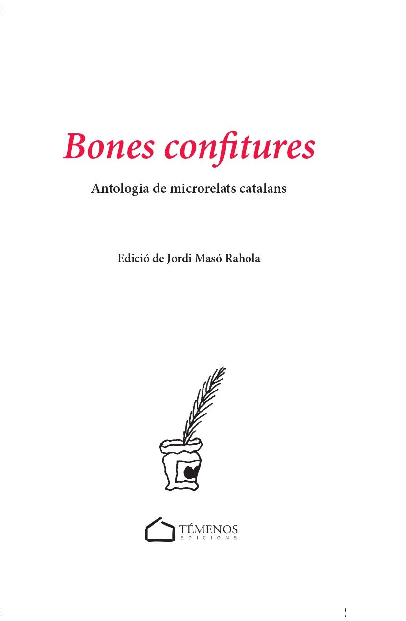 BONES CONFITURES (Antologia de microrelats catalans)