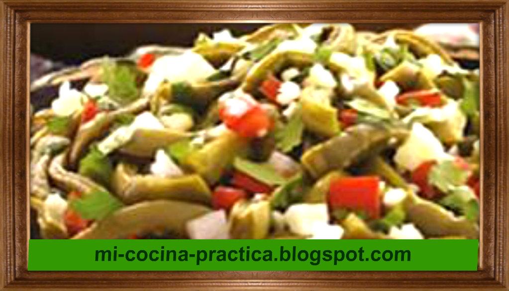 Mi cocina ensalada de nopalitos for Cocina practica