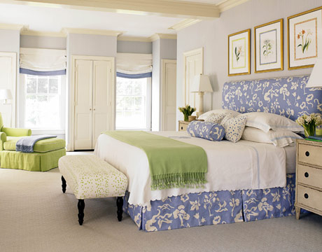 romantic blue and white bedroom ideas