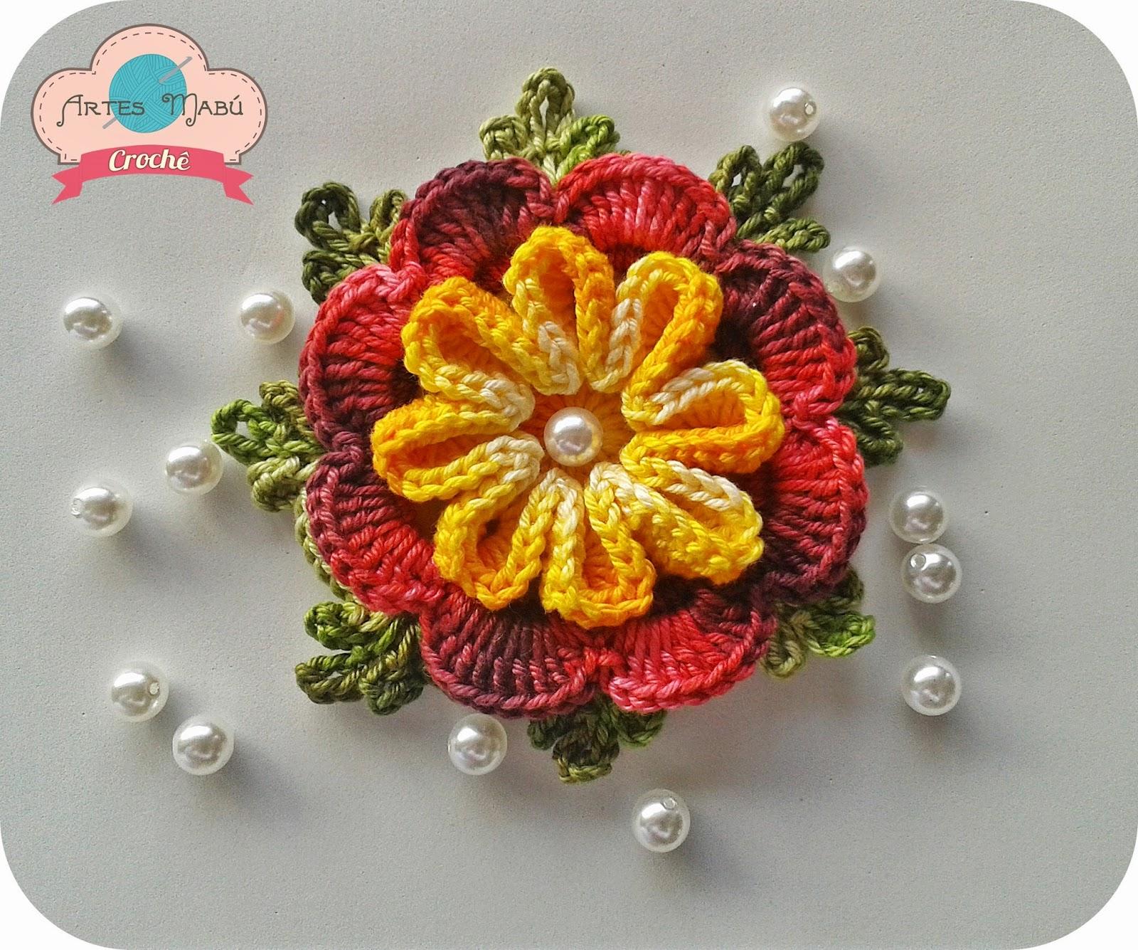 Мастер-класс вязание крючком объёмного цветка