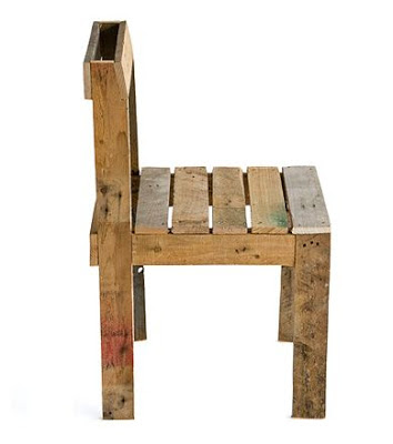 Juego de mesa y silla de dise o f cil for Sillas hechas de palets