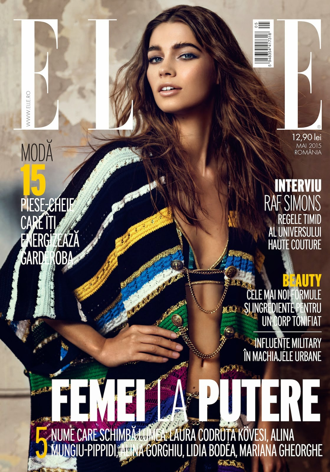 Fashion Model @ Iulia Cirstea - Elle Romania, May 2015