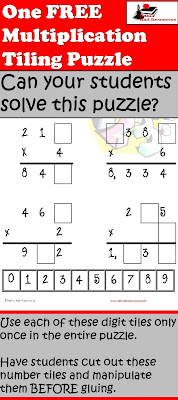 Free download - Multiplication tiling puzzle - Raki's Rad Resources.