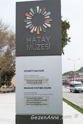 Hatay arkeoloji müzesinin açık olduğu ziyaret saatleri, Antakya