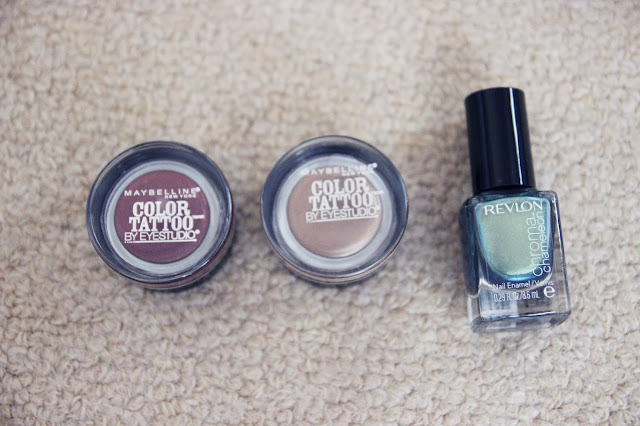 From the drugstore - Maybelline 24HR Color Tattoo and Revlon Chroma Nail Polish