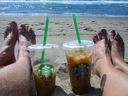 Almond Milk Iced Coffee on the Beach - It Doesn't Get Much Better Than This