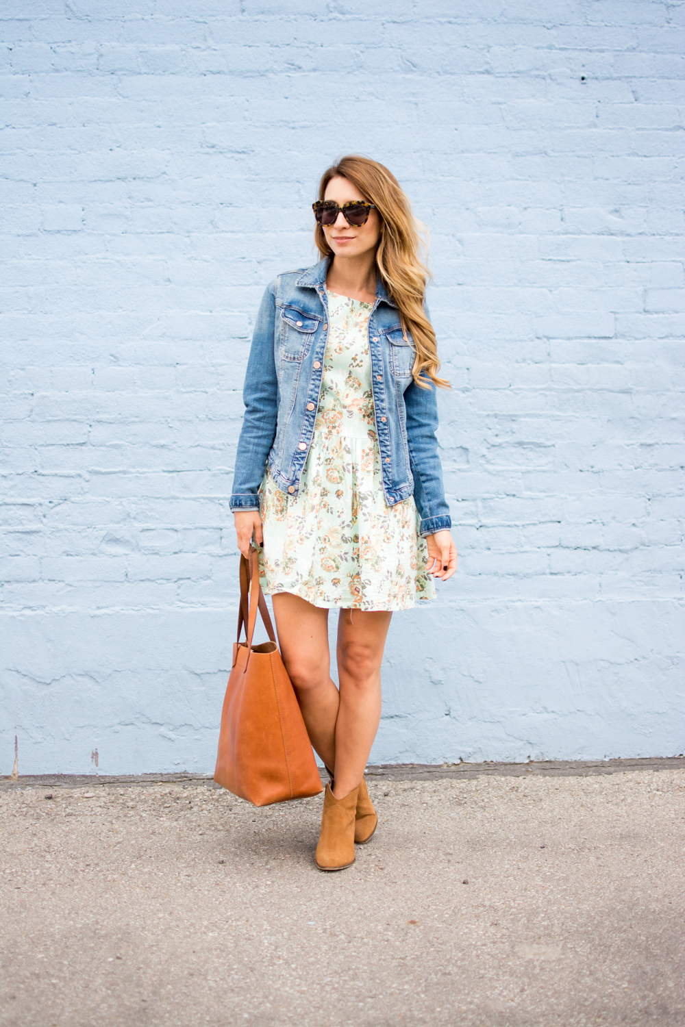OOTD - Summer to Fall with a Denim Jacket and Booties | La Petite Noob | A Toronto-Based Fashion ...