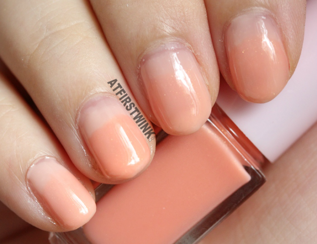 Etude House Juicy Cocktail gradation nails no. 7 - Peach Crush (nail polish 2 Exuberant peach on nails)