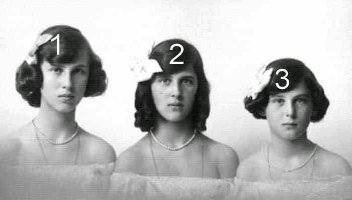 Olga, Elisabeth et Marina de Grèce et de Danemark